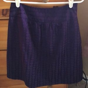 The Limited purple skirt size 6 w pockets